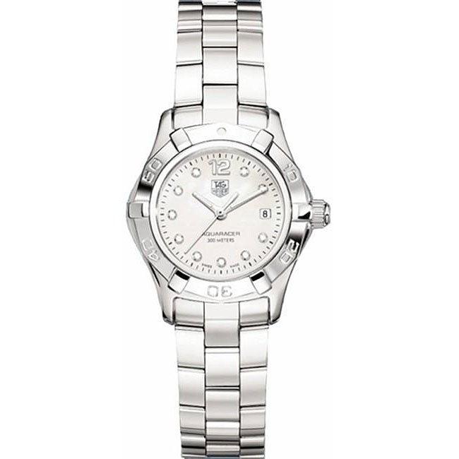 Tag Heuer Women's WAF1415.BA0824 Aquaracer Mother of Pearl Diamond Watch