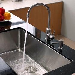 Kraus Kitchen Combo Set Stainless Steel 32 -inch Undermount Sink /Faucet