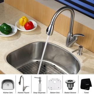 Kraus Kitchen Combo Sat-in Steel Undermount Sink with Faucet