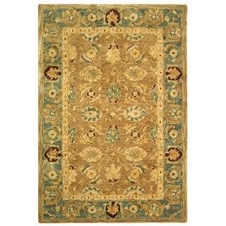 Safavieh Handmade Legacy Brown/ Blue Wool Rug (4' x 6')