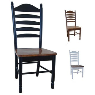 Solid Wood Tall Ladderback Chairs (Set of 2)