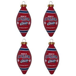 Cleveland Cavaliers Teardrop Ornaments (Set of 4)