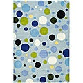 Safavieh Handmade Bubblegum Light Blue/ Multi N. Z. Wool Rug (6' x 9')