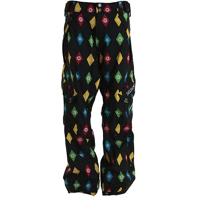 Sessions Men's Black Multi Gridlock Snowboard Pants