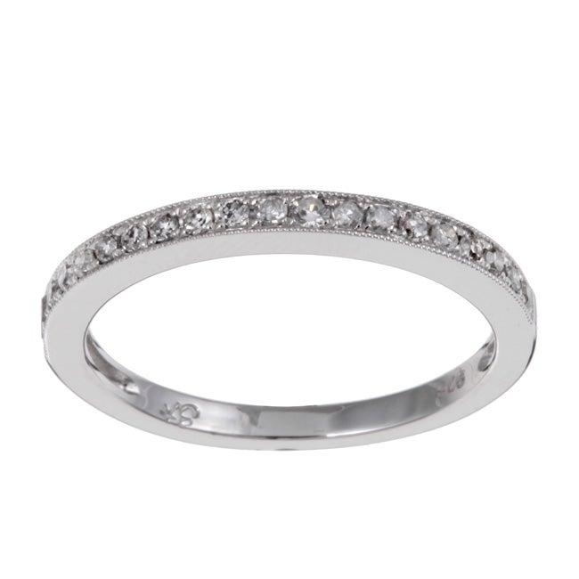 Sterling Silver 1/10ct TDW Diamond Ring (I-J, I1-I2)