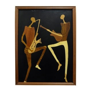 Hand-finished 'Sweet Music' Wood Overlay Picture (Ghana)