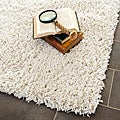 Safavieh Hand-woven Bliss Off-White Shag Rug (2' x 3')