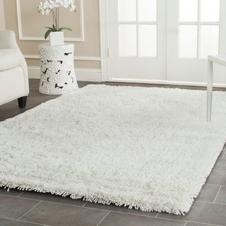 Safavieh Hand-woven Bliss Off-White Shag Rug (8'6 x 11'6)