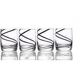 Luigi Bormioli Black Swirl 14-oz Glasses (Set of 4)