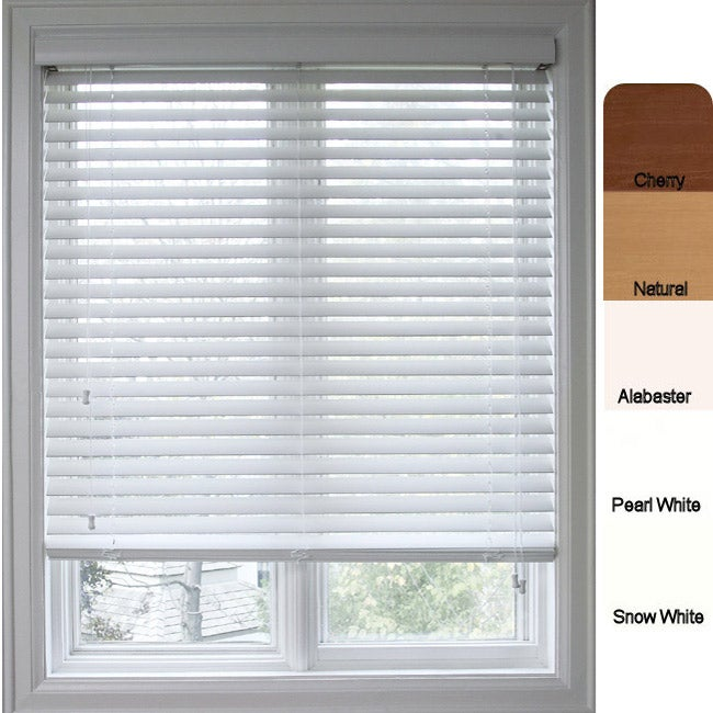 Customized Faux Wood 29.5-inch Window Blinds