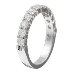 14k White Gold 1ct TDW Diamond Anniversary Band (H-I, I1-I2)