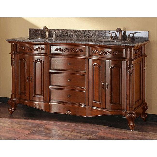 Avanity provence 60 inch double vanity in antique cherry - Antique bathroom vanities for sale ...