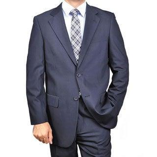 Men's Navy Blue Two-button Suit
