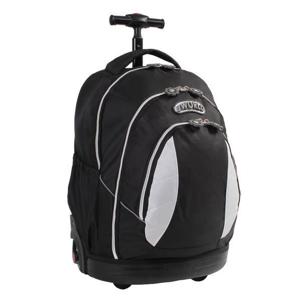 J World Kid's Black Rolling Ergonomic Backpack
