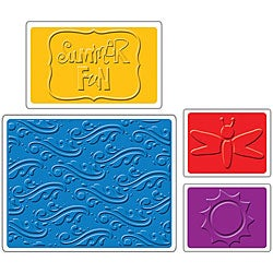 Sizzix Summer Fun Textured Impressions Embossing Folders