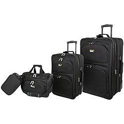 Geoffrey Beene Black 4-piece Westchester Collection Luggage