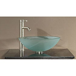 Avanity Tempered Frosted Glass Sink Vessel