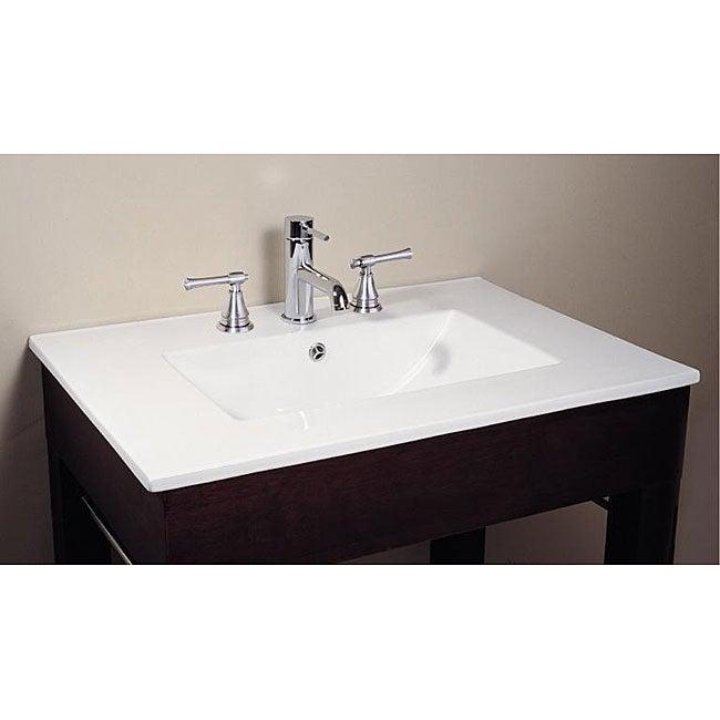 Avanity Vitreous China Top Rectangular Bathroom Sink Overstock Shopping G