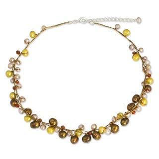 'River Of Gold' Pearl Strand Necklace (Thailand)