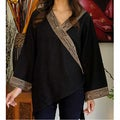 Cotton 'China Paths In Black' Blouse (Thailand)