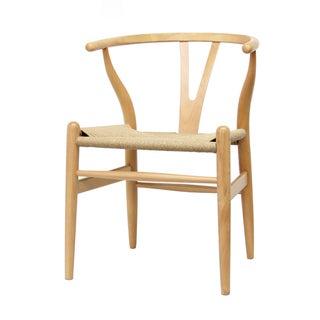 Wood Chair with Hemp Seat