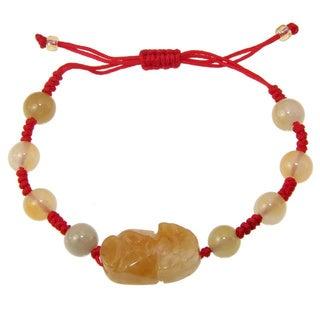 Yellow Jade Blessing Bracelet (China)
