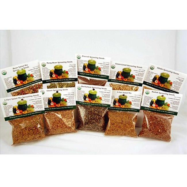 Organic Sprouting Seed Super Sampler