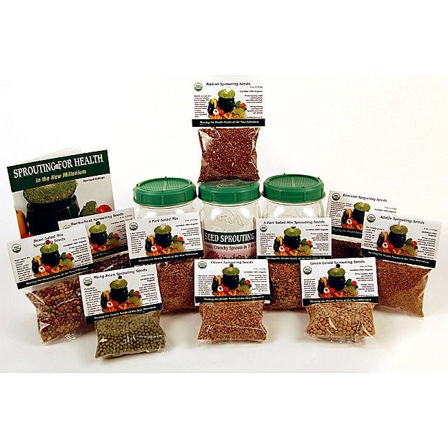 Living Whole Foods Sprouting Kit (Set of 3)