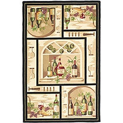 Safavieh Hand-hooked Winery Gold/ Multi Wool Rug (8'9 x 11'9)