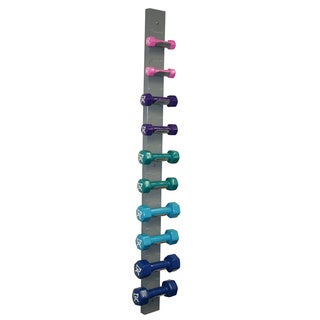 Cando Vinyl-coated 10-piece Dumbbell Set with Rack