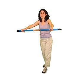 Cando Red Stripe 3.5-pound Weight Bar