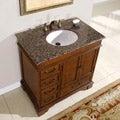 Silkroad Exclusive Riverbank Bathroom Single-sink Vanity