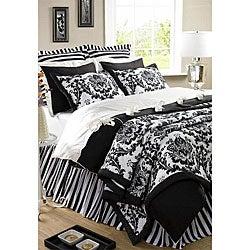 Damask Black 2-piece Twin Quilt Set