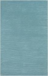 Hand-tufted Blue New Zealand Wool Mandara Rug (5' x 7'6)