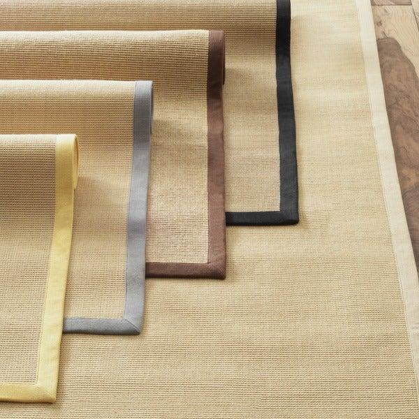 nuLOOM Handmade Alexa Eco Natural Fiber Cotton Border Jute Rug (5' x 8')