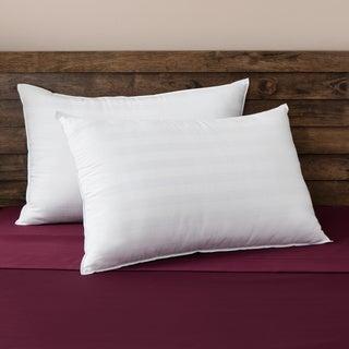 Comfort Curve Cotton Cover Foam Center Memory Loft Pillows (Set of 2)