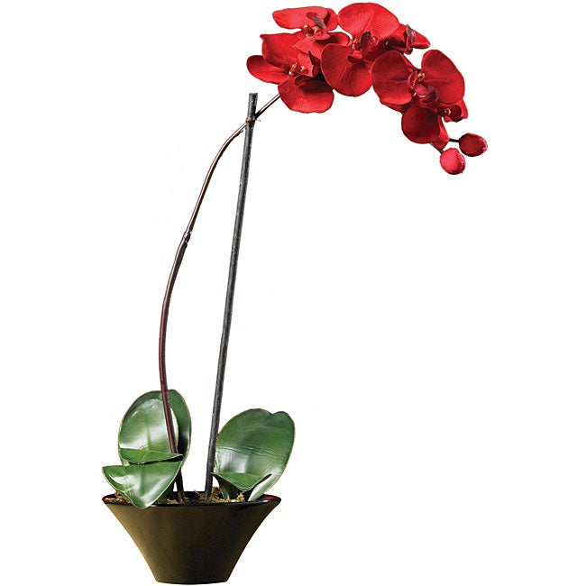 Holiday Faux Phalaenopsis Orchid Arrangement