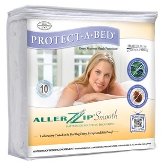 AllerZip Smooth Queen-size Bedbug-proof Mattress Protector
