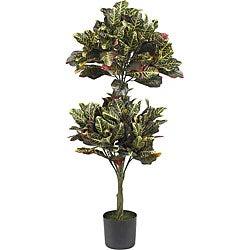 Croton 4.5-foot Topiary Silk Tree