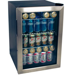 EdgeStar 84-can Stainless Steel Beverage Refrigerator