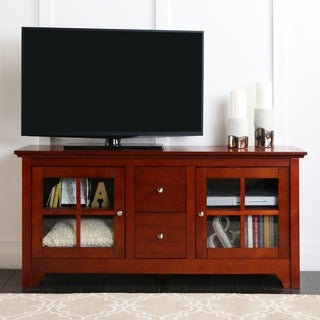 Brown Wood 52-inch TV Stand