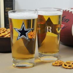 Cowboys NFL Pint Glasses (Set of 2)