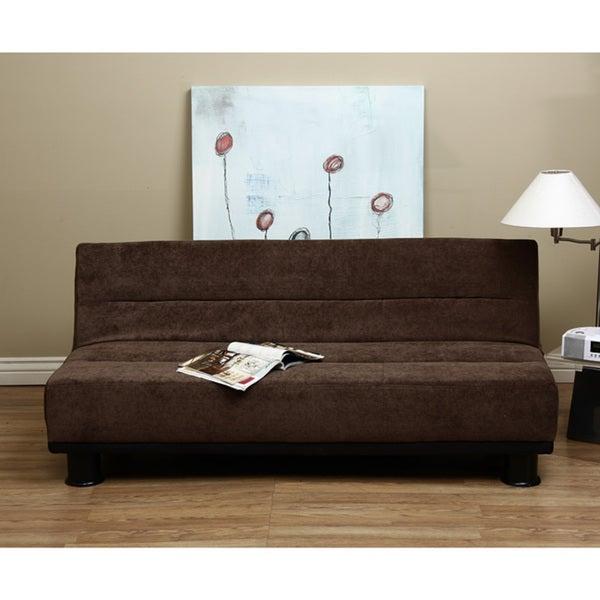 Cocoa Velvet Like Sofa Bed
