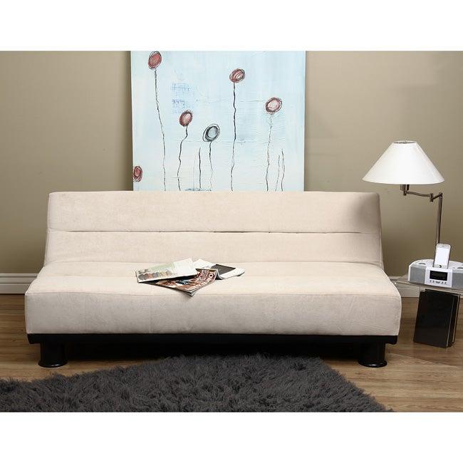 Cream Velvet - Look Sofa Bed