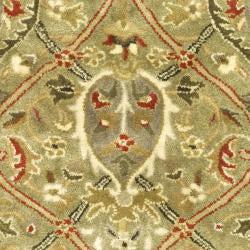 Safavieh Handmade Mahal Green/ Rust New Zealand Wool Runner (2'6 x 4')