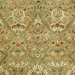Safavieh Handmade Mahal Green/ Rust New Zealand Wool Rug (6' x 9')