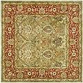 Safavieh Handmade Mahal Green/ Rust New Zealand Wool Rug (6' Square)