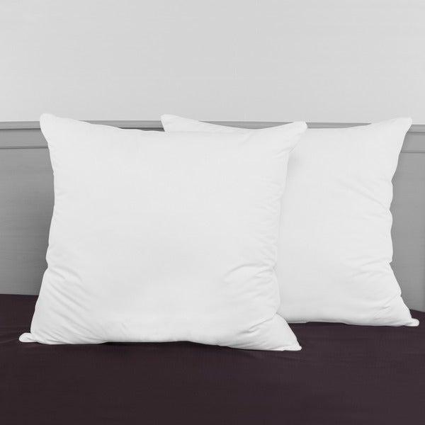 SwissLux Decorator 28x28-inch Euro Square Pillows (Set of 2)