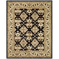 Safavieh Handmade Heritage Traditions Black/ Ivory Wool Rug (4' x 6')