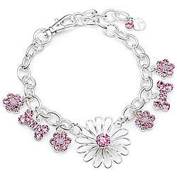 Buddy G Flower Charm Dog Collar